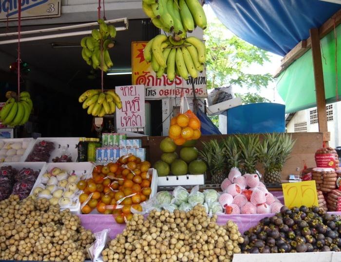 fruchtauswahl auf dem Markt