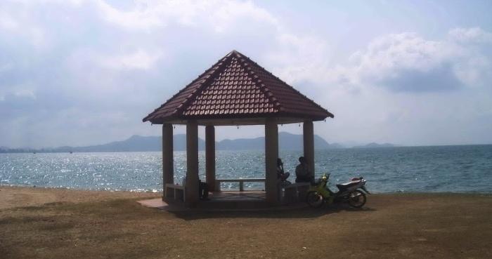 ruheplatz pergola am Meer
