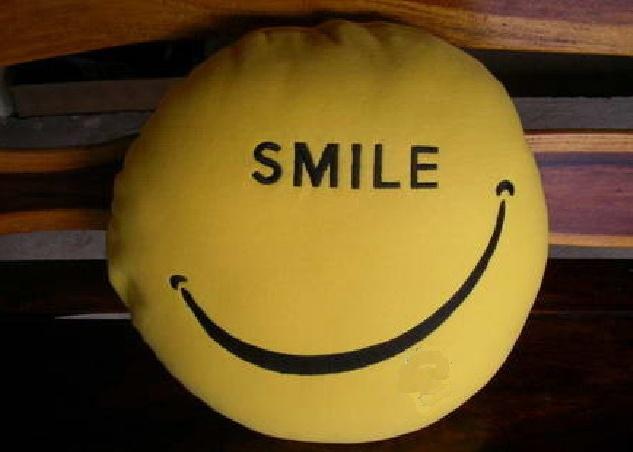 smile kissen