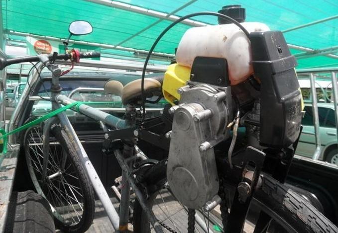 umgebautes fahrrad