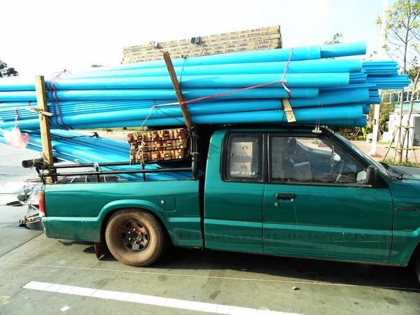 überladener pickup